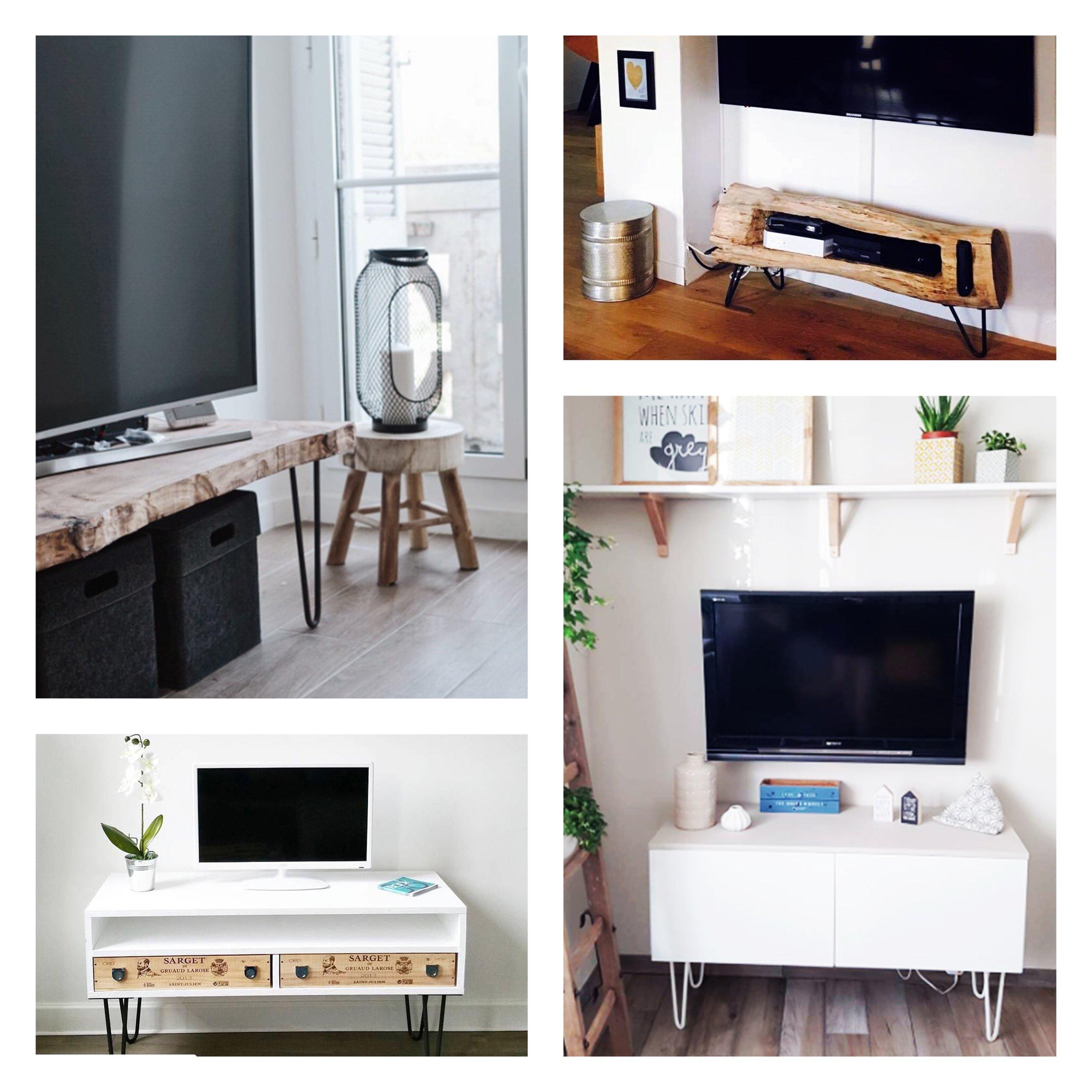 Création meuble tv hairpin leg