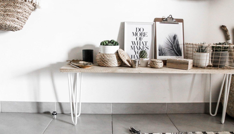 apprenez cr er un joli banc d 39 int rieur avec des pieds ripaton. Black Bedroom Furniture Sets. Home Design Ideas