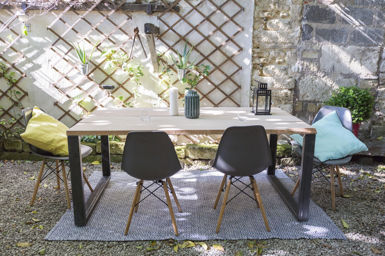 table à manger DIY réalisée avec des pieds ripaton