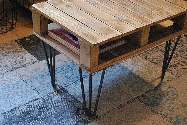 Table basse en palette réalisée par Amoureusement Mode