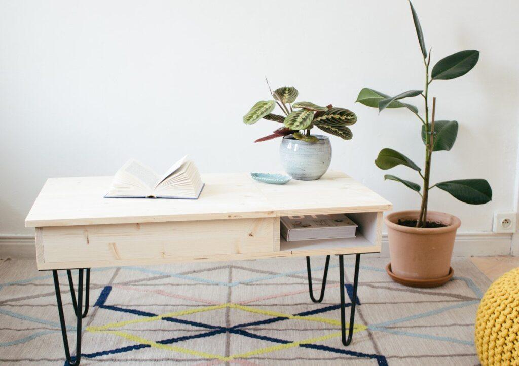 Table basse réalisée par carnet de printemps