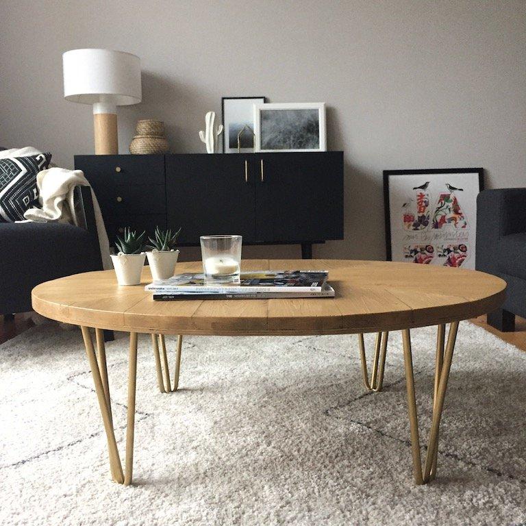 table basse ripaton réalisée à partir d'un touret