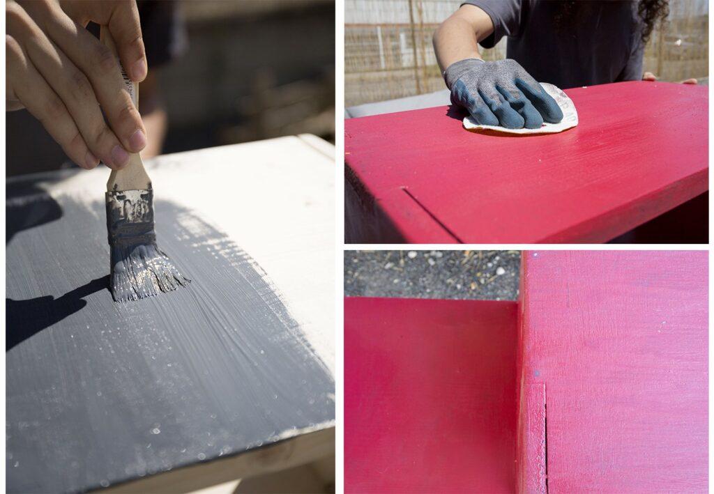 Peinture meuble pour tourne-disque ripaton