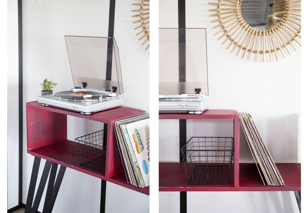 Meuble DIY pour tourne-disque RIPATON