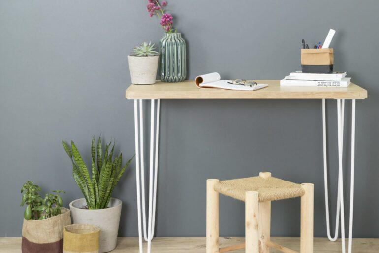 bureau plateau en bois