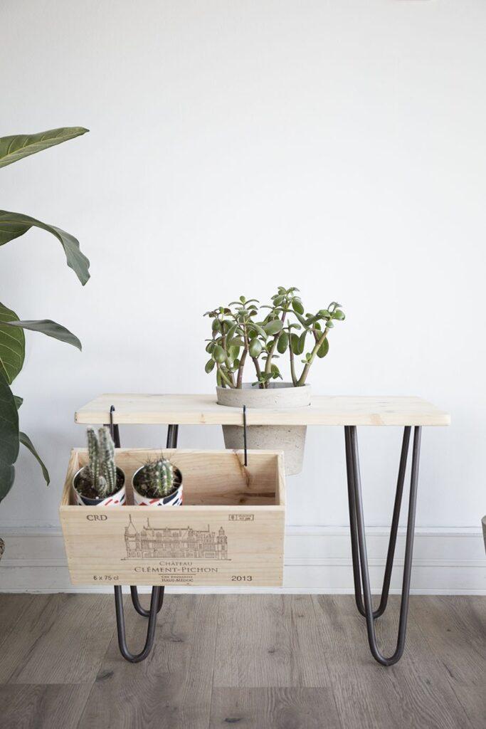 diy banc plantes