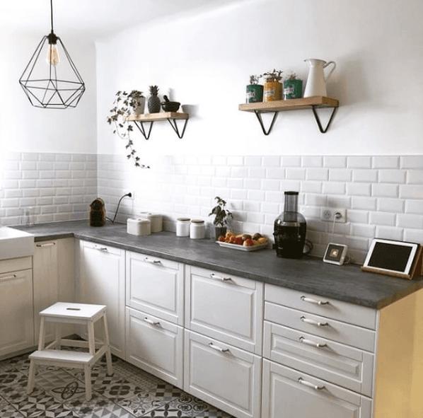 acier etagere cuisine