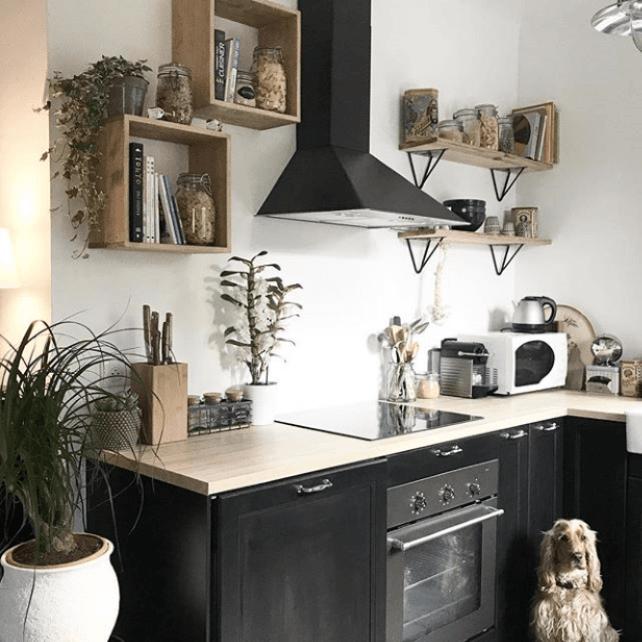 cuisine etagere acier