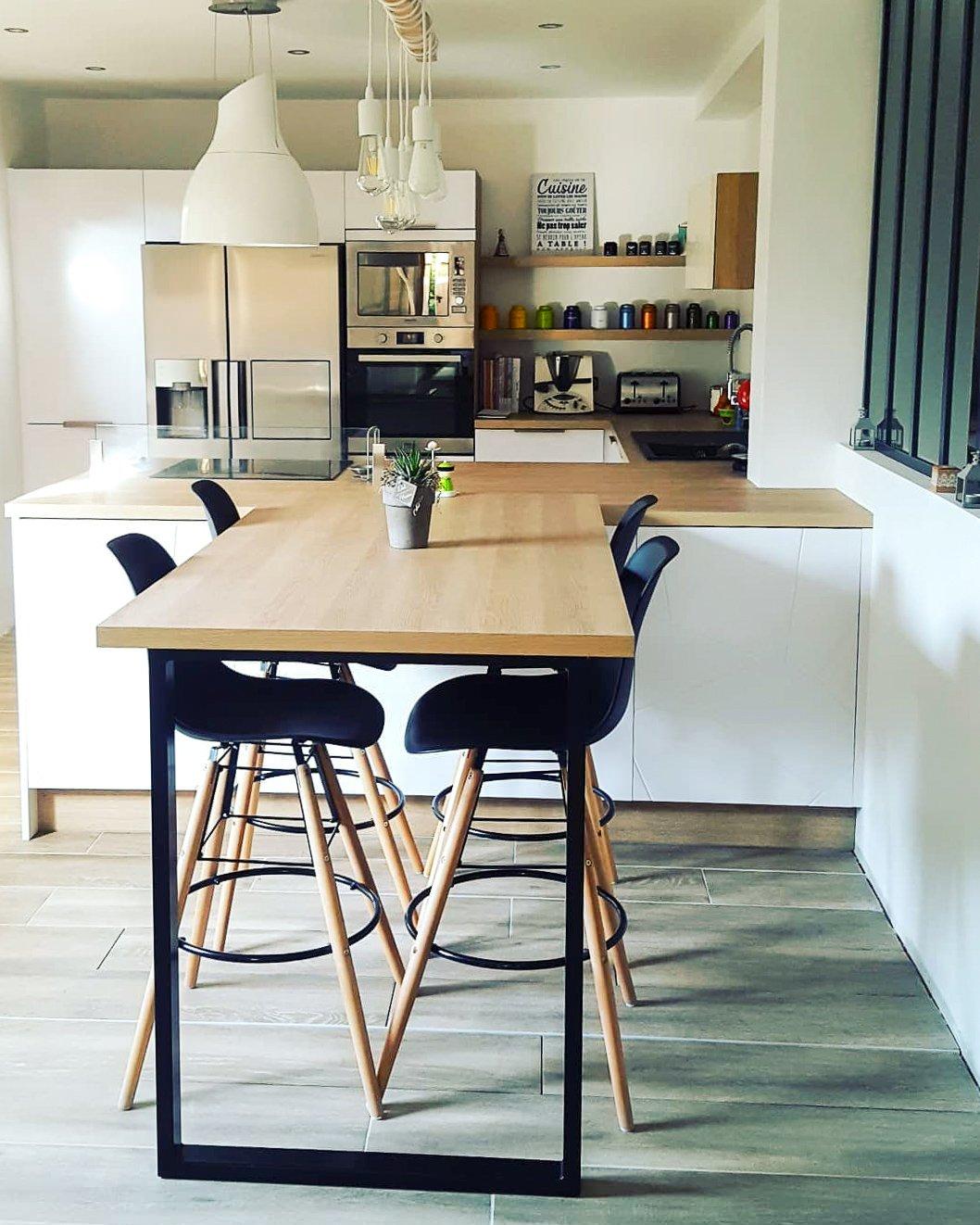 Ilot Central Et Table Îlot et plan de travail : inspirations cuisine - ripaton