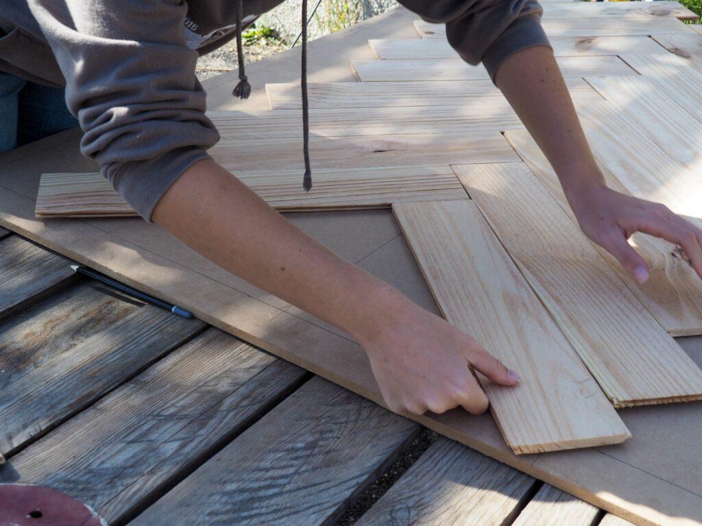 Placement des planches