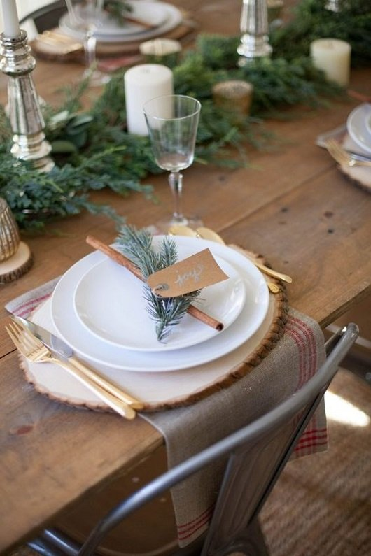 Table naturelle noel