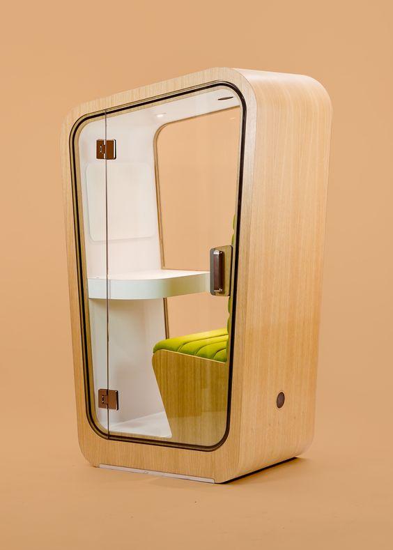 description d'une cabine téléphonique (phone booth) acoustique