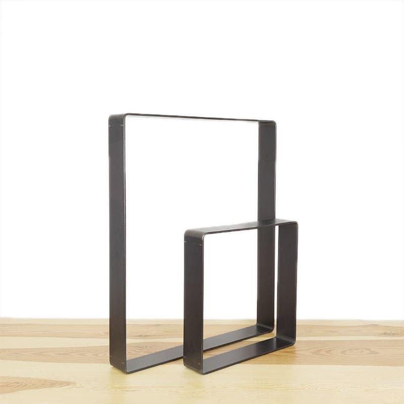 exemple pieds en acier pour création table à manger