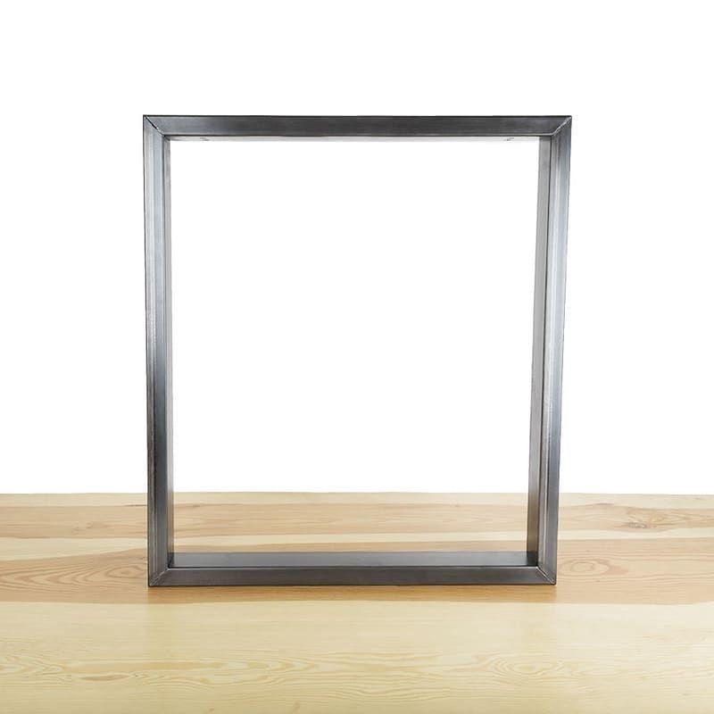 exemple 3 pieds en acier pour création table à manger