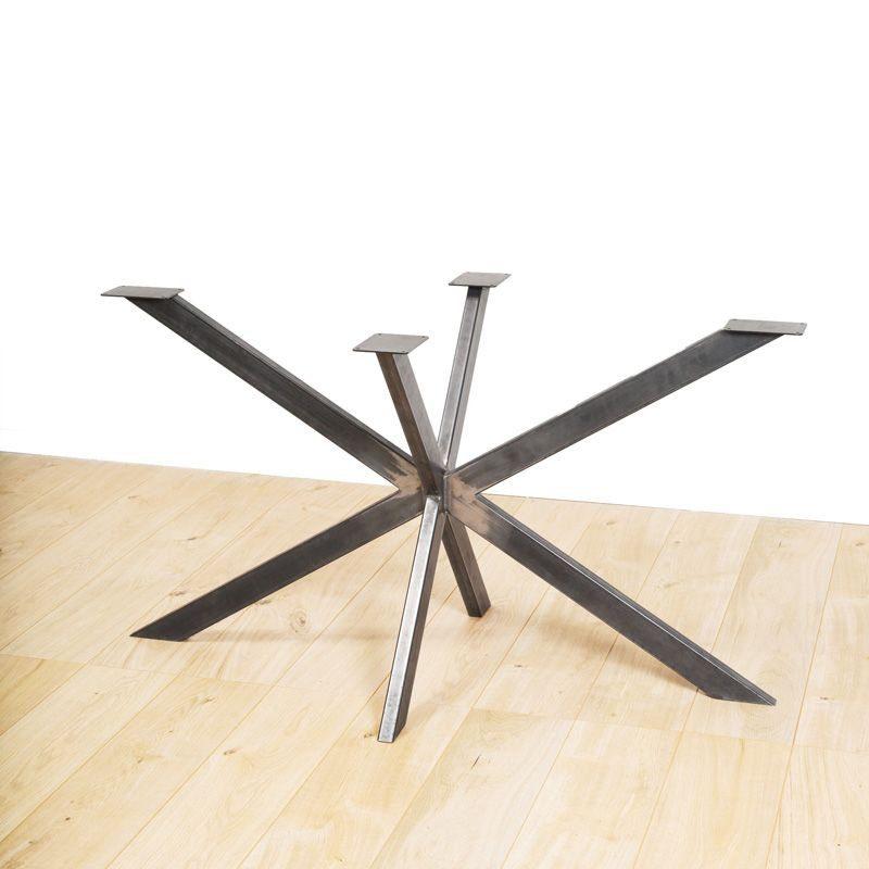 exemple 2 pieds en acier pour table