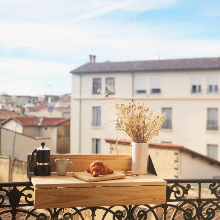 photo tablette de balcon