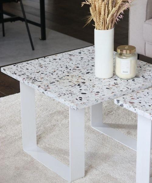 Idée table basse en terrazzo