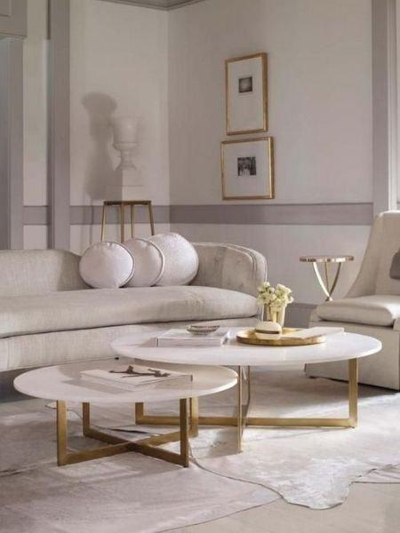 idée de table basse en marbre blanc