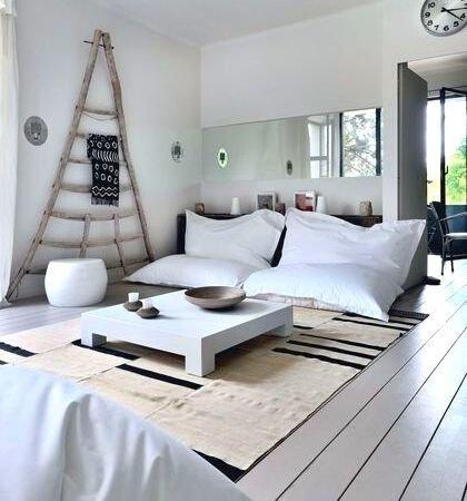 décoration salon pour canapé de sol