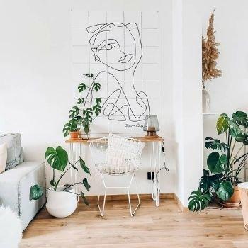 aménagement d'un bureau dans salon