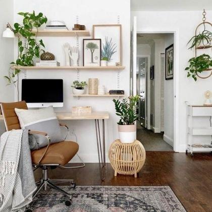 aménagement d'un espace bureau dans le salon
