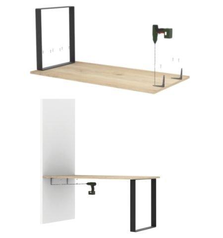 schéma montage d'une table haute