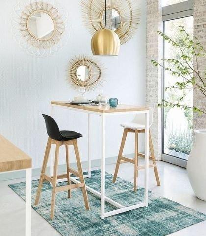 exemple table haute avec hauteur de 90 cm